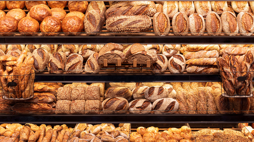 Selection of breads at a specialty bakeshop