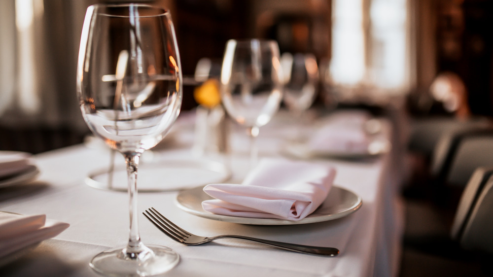 Fine dining restaurant tablescape