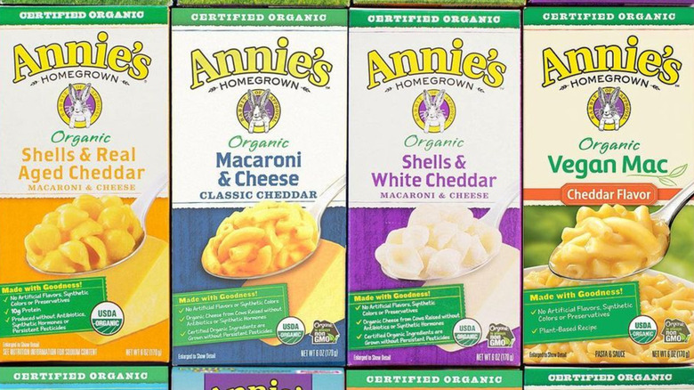 Annie's mac and cheese boxes