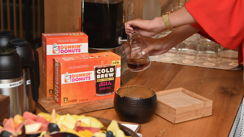 Dunkin' K cups in boxes