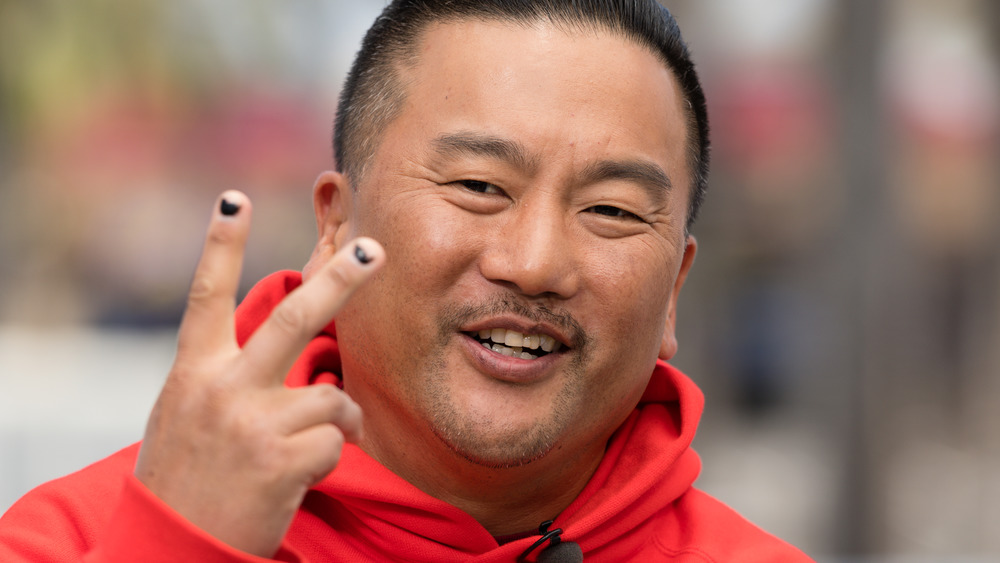 Chef Roy Choi in a red jumper