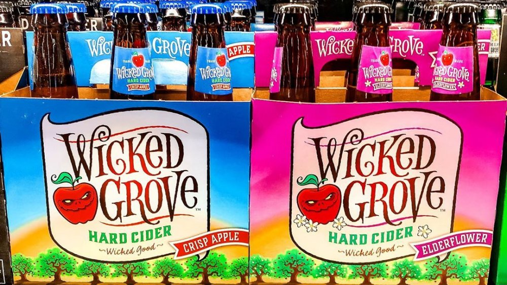 Two flavors of Aldi's Wicked Grove Hard Cider