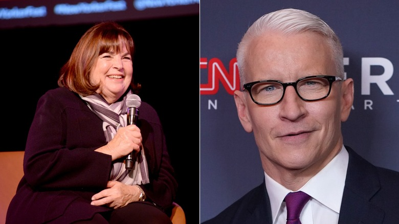 Ina Garten and Anderson Cooper