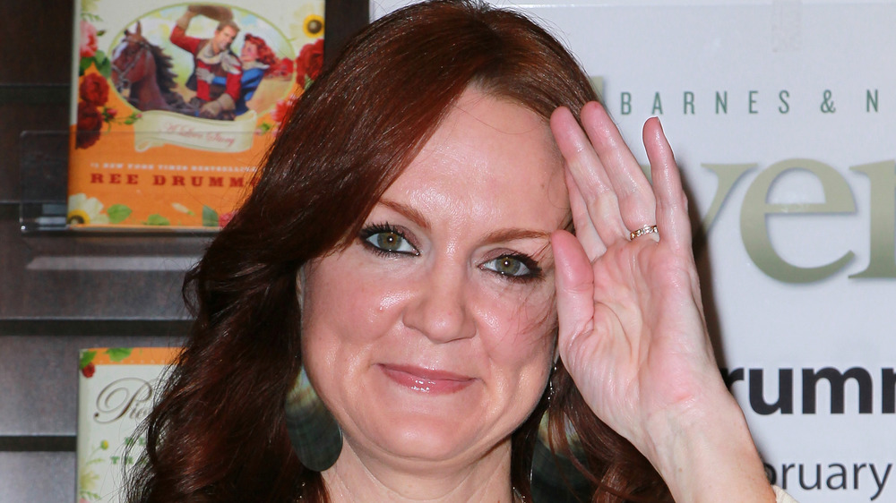 Ree Drummond with curled hair