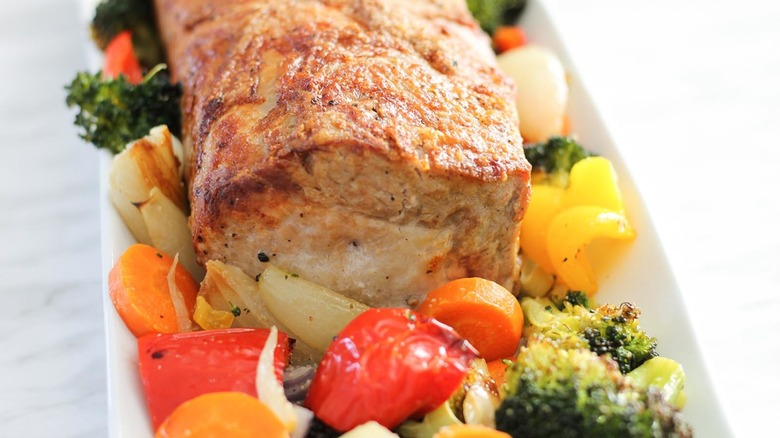 pork loin recipe served
