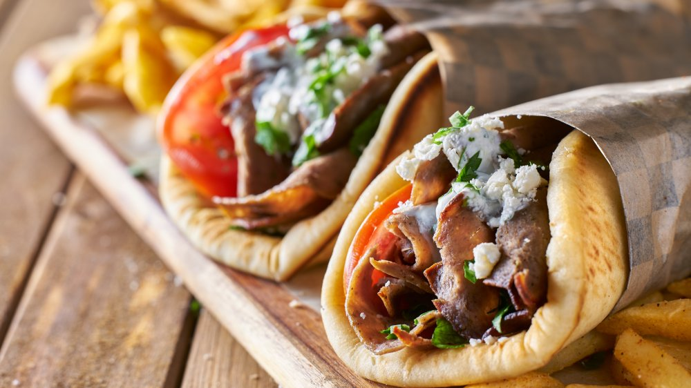 Gyros with French fries