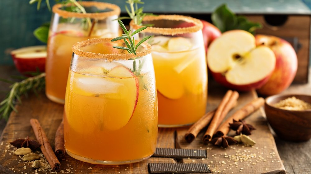 Hard apple cider in a glass