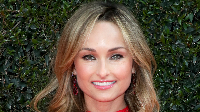 Giada De Laurentiis in a red outfit
