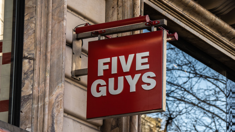 Five Guys sign outside
