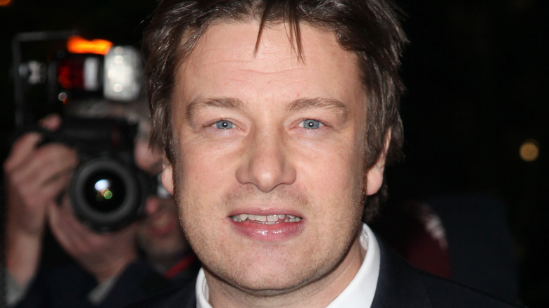 Jamie Oliver smiling at event