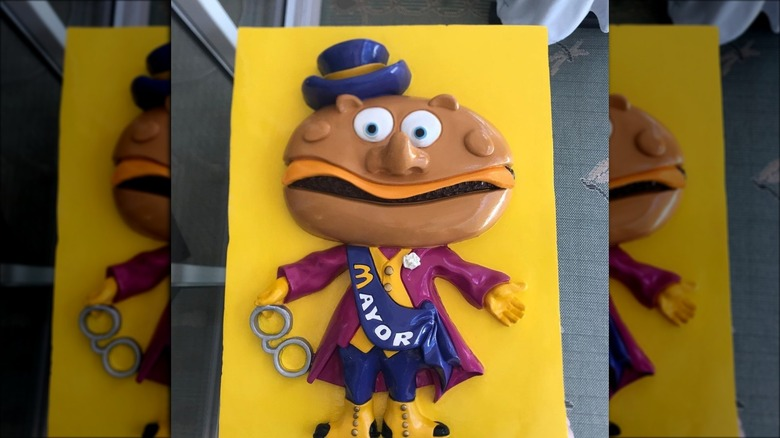 A vintage Mayor McCheese toy