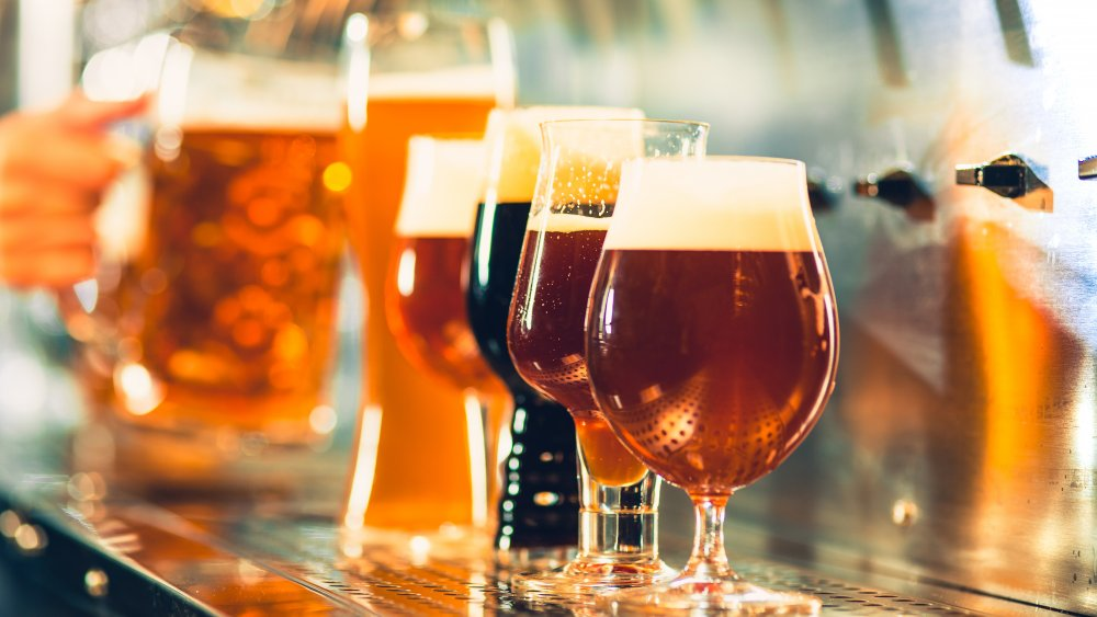 Different types of beers