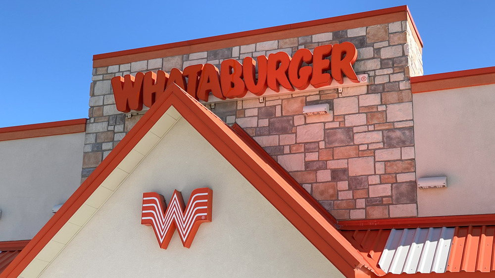 The outside of a Whataburger