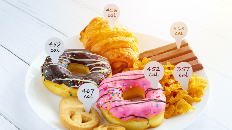 Desserts with calorie counts