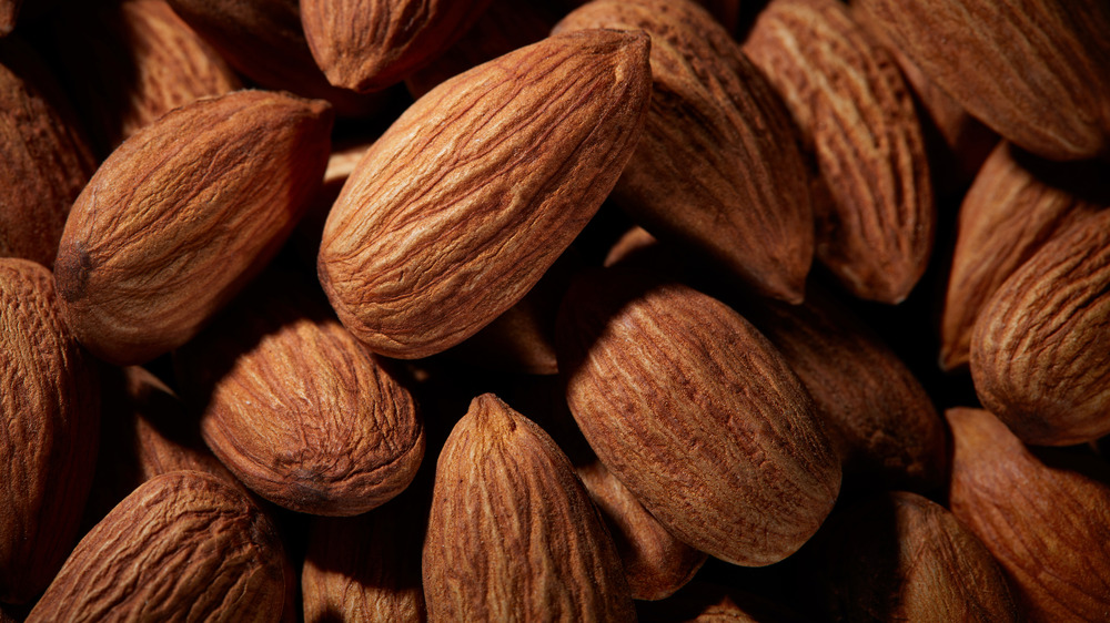 Almonds piled up