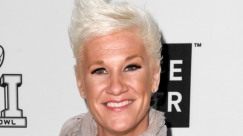 Anne Burrell with diamond earrings