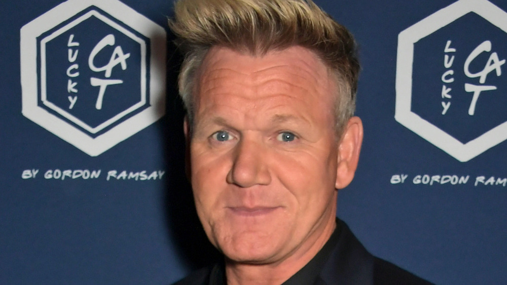 Gordon Ramsay with open mouth