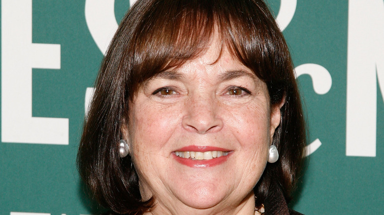 Ina Garten in pearl earrings