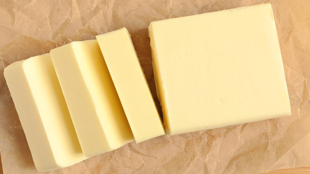 Slices of butter