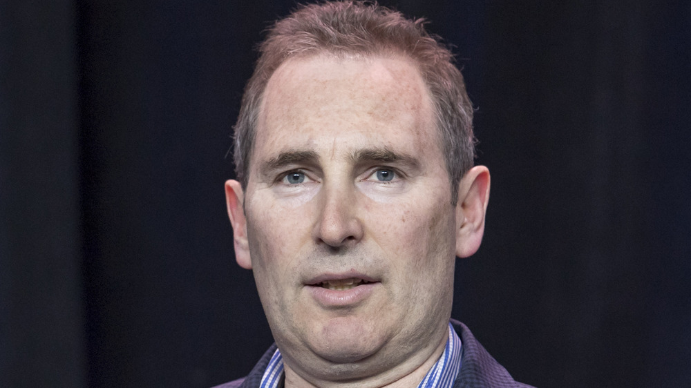 Amazon's Andy Jassy speaking at event