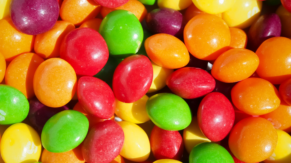 Skittles rainbow colored chewy candy