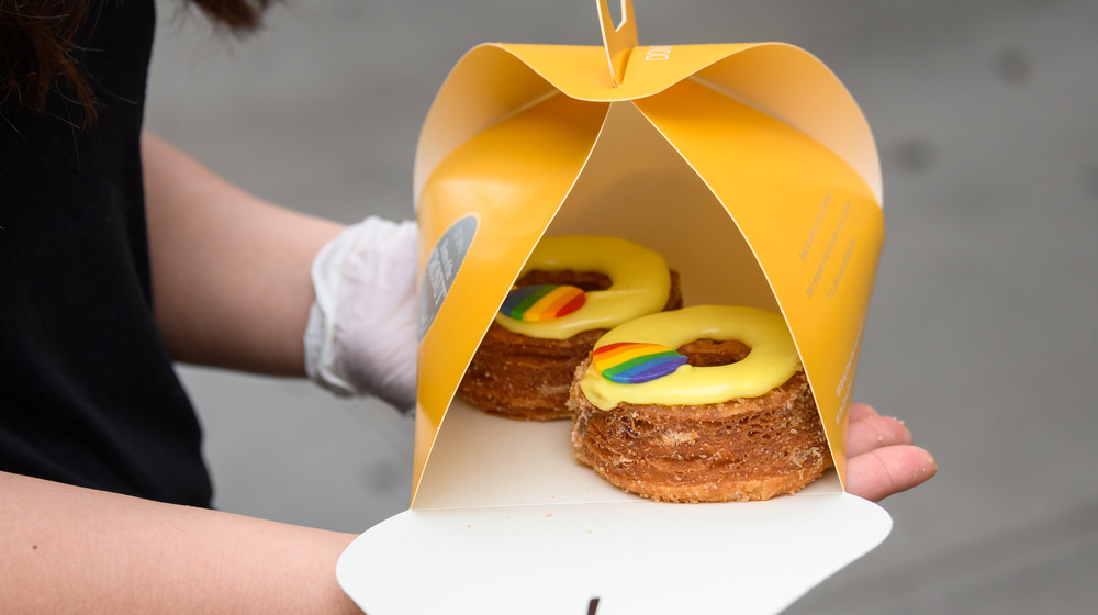 Pride cronut at Dominque Ansel Bakery