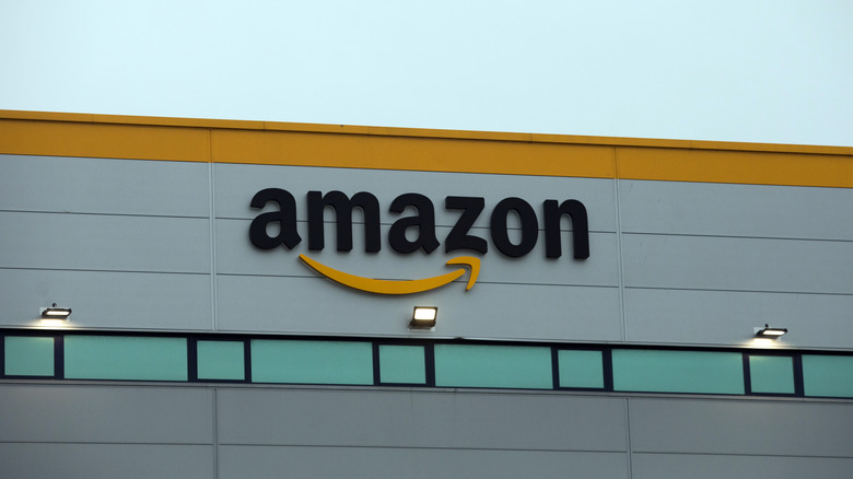 Amazon sign on building