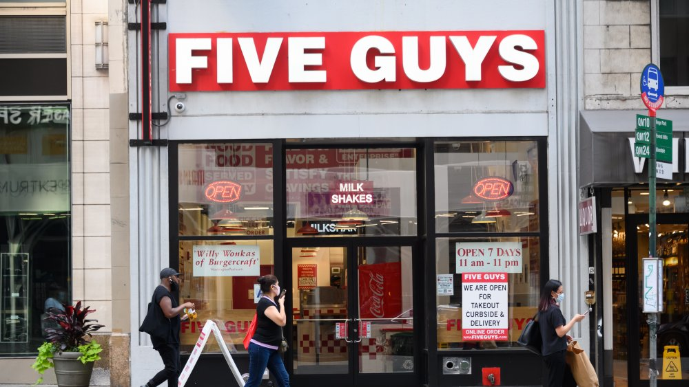 A five guys restaurant