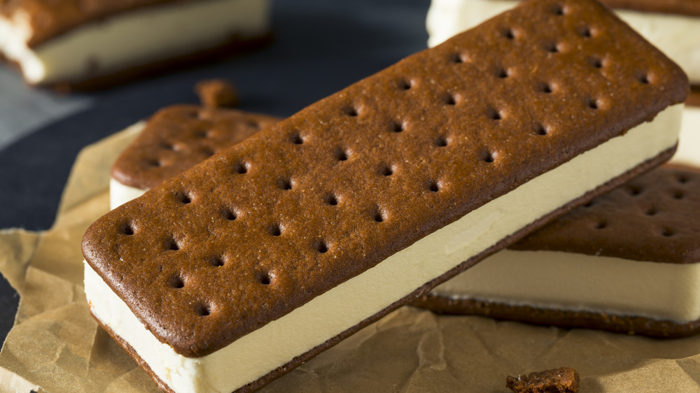 A generic photo of an ice cream sandwich