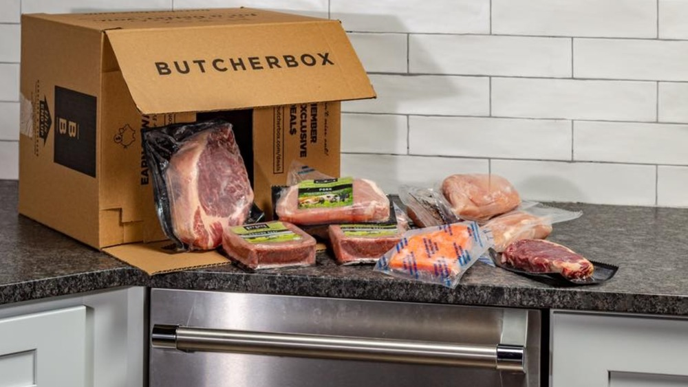 ButcherBox meat delivery different cuts in a box