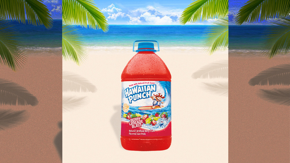 Hawaiian Punch on beach