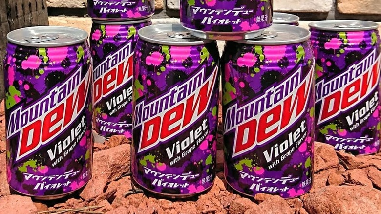 Mountain Dew Violet cans