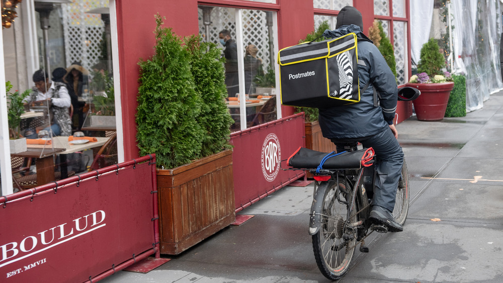 Postmates delivery cyclist