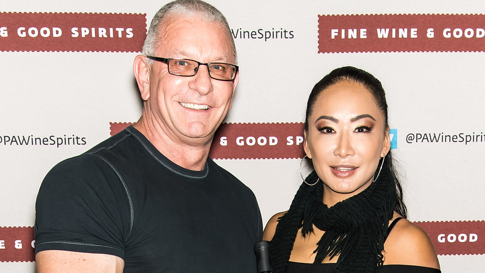Gail Kim pictured with her husband, chef Robert Irvine.