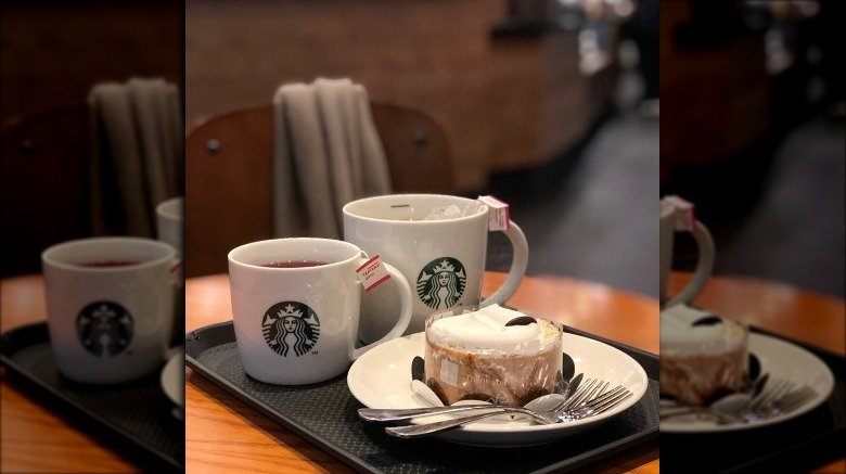 Starbucks table