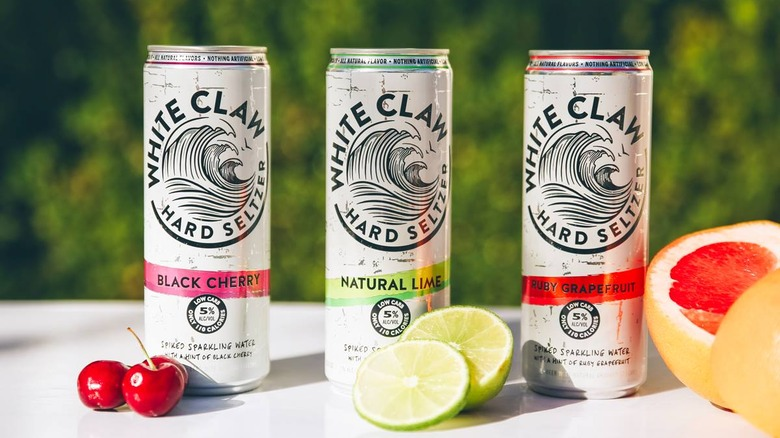 white claw cans