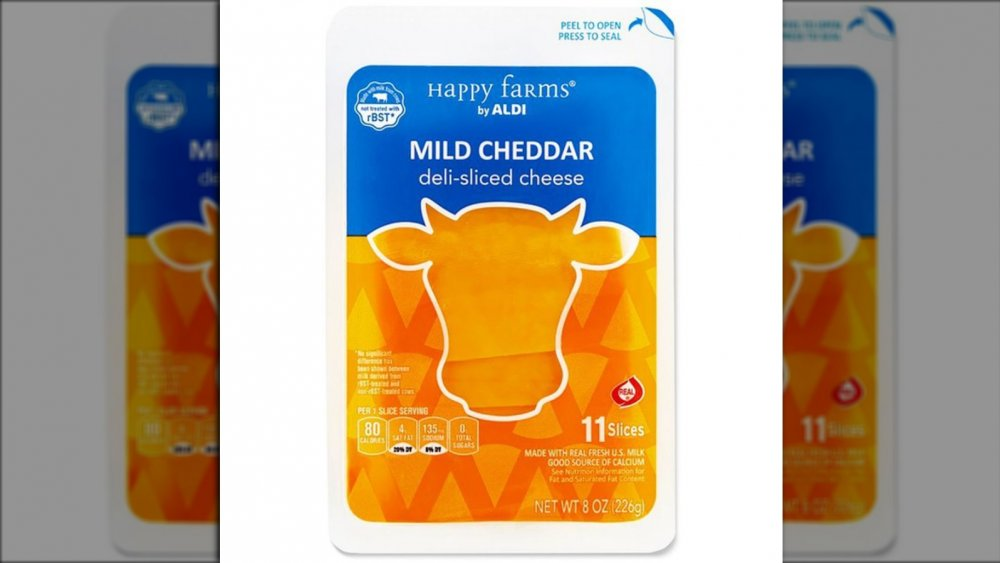 Aldi's old cheese packaging