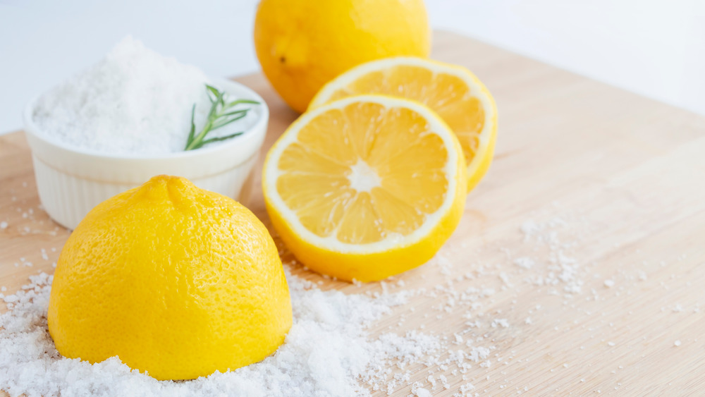 Salt and lemon
