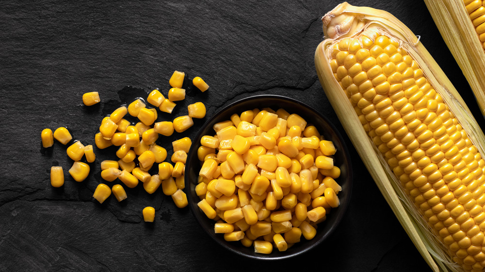 cooked corn in a bowl