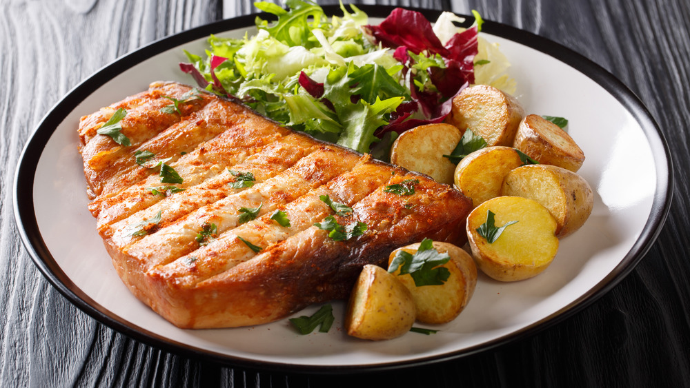 swordfish with side dishes