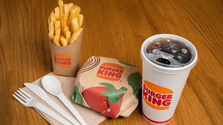 Burger King meal with new packaging