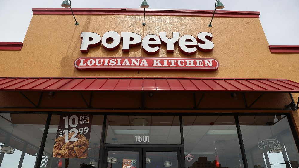 Popeyes sign
