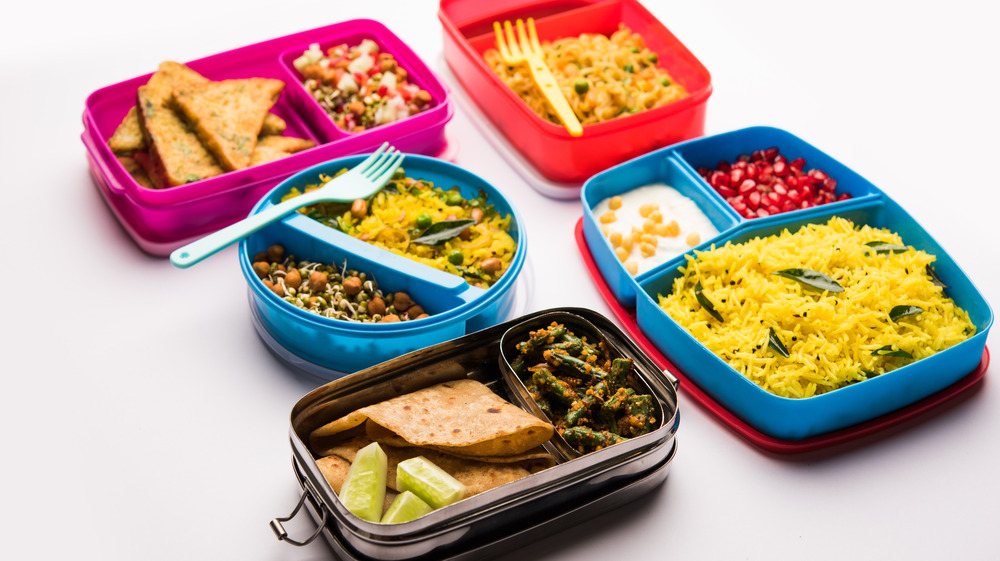 Variety of lunch boxes
