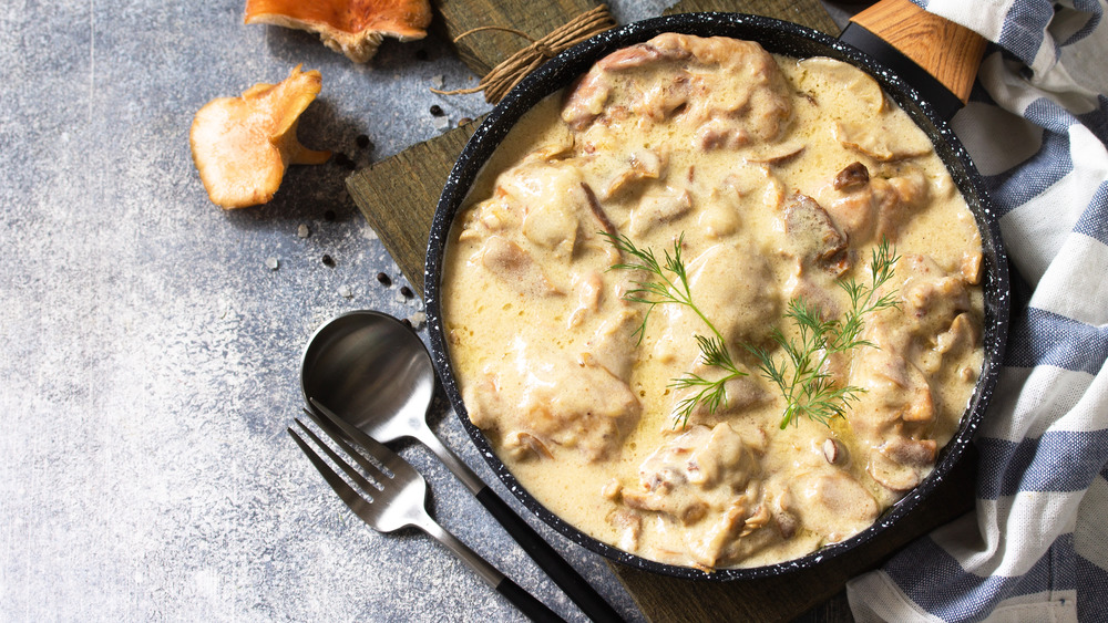 Creamy chicken dish