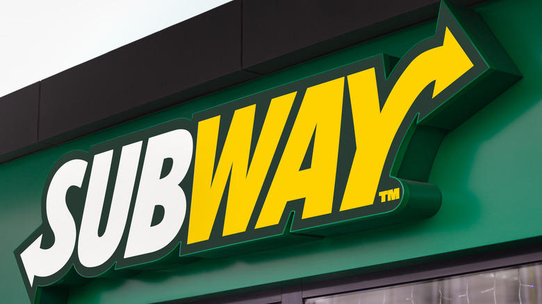 A Subway store sign