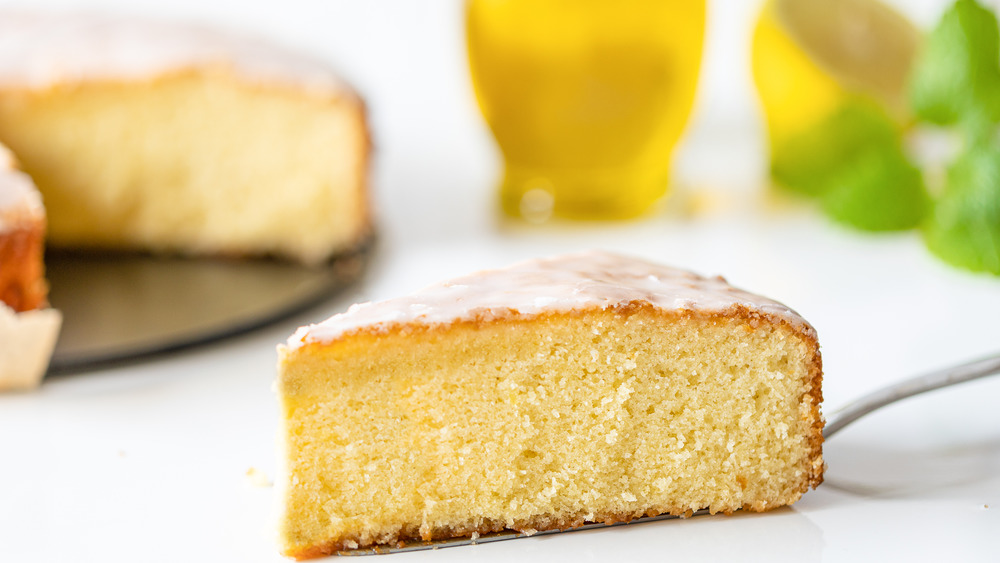 slice of olive oil cake
