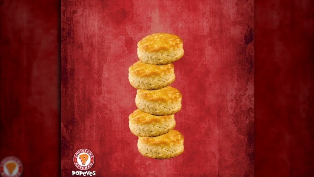 Popeyes' biscuit stack