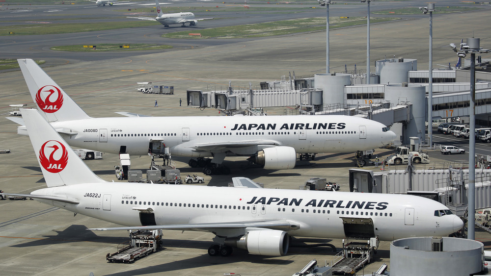 Japanese Boeing aircraft on a tarmac