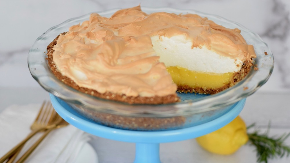 lemon meringue pie recipe served
