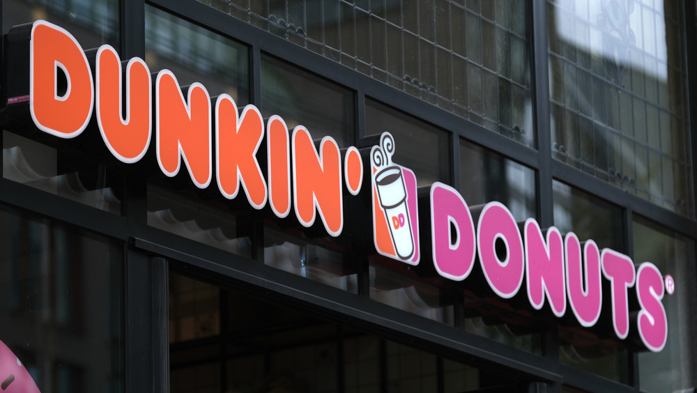 Dunkin' Donuts retail sign